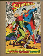 Superman #205 - The Man Who Destroyed Krypton - 1968 (Grade 5.5) WH
