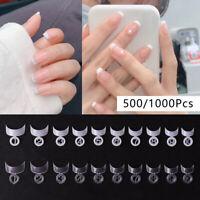 500/1000ps French Fake Nails Full Cover Nail Tips False Nails Decoration Pack