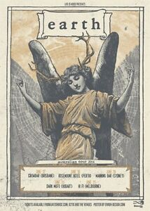 EARTH 2014 Australian Tour Poster A2 Angels Of Darkness Demons Of Light **NEW**