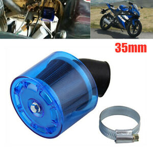 35mm ATV Pit Dirt Bike Splash Proof Plastic Cover Air Filter 50/110/125cc Blue