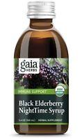 Gaia Herbs | Immune Support | Black Elderberry NightTime Syrup 5.4 oz | EX 10/22