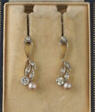 Edwardian Fine Pearl Earrings