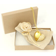 2GB Gold Diamond Heart Pouch/Gift Box/Novelty USB Flash Drive/Wedding/Bling