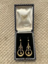 Antique Edwardian Stunning 9ct Gold Earrings