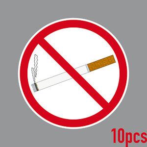 10 Sticker 10cm Round Sticker Smoking Verboten Non-Smoking Shield