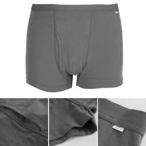 4 Size Gray Reusable Incontinence Briefs Pants Cotton Underwear Washable For Men