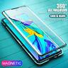 Per Huawei P30/ Pro/ Lite 360° Magnetico Doppio Vetro Temperato Custodia Cover