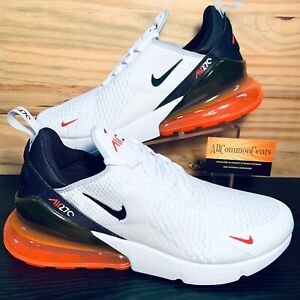 Nike Air Max 270 Men's Shoes Size 12 White Bright Crimson Black NEW DH0616-100