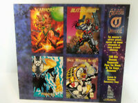 Vintage 1993 CREATOR'S UNIVERSE Uncut PROMO Cards Sheet Kubert Jusko Sears Nguye