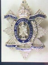 Rare Original Ww1 Platinum Badge Insignia Black Watch Royal Highlanders Canada