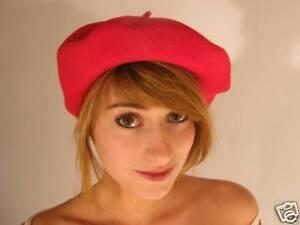 NEW Original Best French Paris Beret Hat Black Pink Red