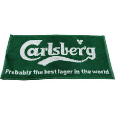 Carlsberg Bar Towel - Branded Beer Home Pub Man Cave Decor - Green Spill Cleaner