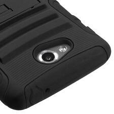 LG Spirit 4G MS870 Metro AA Hybrid Case Skin Cover w/Stand Black