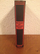 Vintage Antique 1931 Forty Years of Scotland Yard by Frederick Porter Wensley
