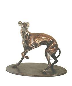 Stunning greyhound bronze figurine c. 1880