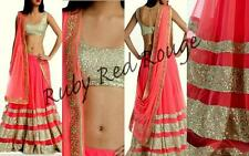ACTUAL PICS LISTED-Indian Bollywood PARTY Wedding Bridal Embroidered Lehenga