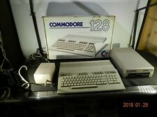 Commodore C128 Computer w/1541 Disk Power Adapter Cords Manuals Works Orig Box