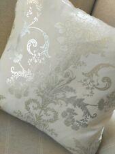 "20"" Josette Silver Grey Fabric Cushion Cover"