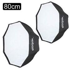 2X Godox 80cm Octagon Umbrella Softbox for Speedlite Studio Flash Speedlight