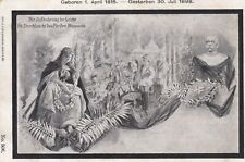 Fehlerhaft Trauerkarte Fürst Bismarck gestorben 1898 stampsdealer