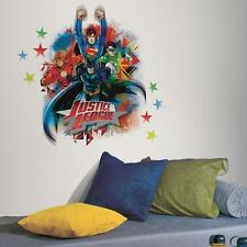 JUSTICE LEAGUE Giant WALL DECALS Batman Superman Flash Stickers NEW Room Decor