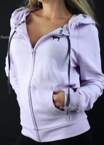 Victoria's Secret PINK Full Zip Hoodie Sweatshirt Fleece Lavender NWT