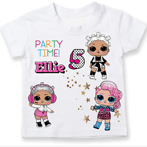 Lol Doll inspired non official Birthday T-shirt personalised Choose Dolls