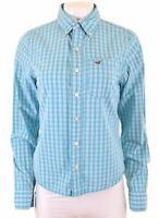HOLLISTER Mens Shirt Small Blue Check Cotton  GW01