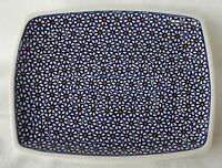 Unikat Blumen Teller / Platte aus Bunzlauer Keramik, Handarbeit, 18 x 23 cm 0428