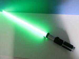 star wars MASTER YODA FX green lightsaber light up COSPLAY hasbro 2014 4528