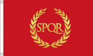 5' x 3' Roman Empire Flag SPQR The Senate and People of Rome Republic Government