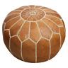 Moroccan Pouf Ottoman Leather Pouffe - Ottoman Footstool Poufe - Unstuffed