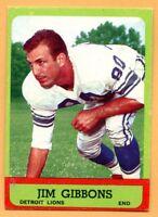1963 Topps Football # 30 Jim Gibbons (EM) Lot 701 -- Detroit Lions