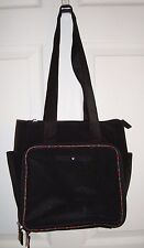 Vtg Tommy Hilfiger Black Nylon Purse Plaid Trim Star Logo Tote Bag Baby