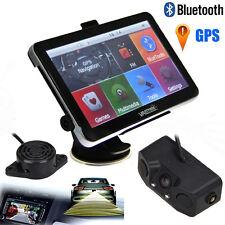 """Portable Car 7"""" GPS Navigation Bluetooth AV-IN 4GB+Reaving Backup Camera Radars"""
