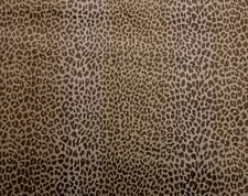 "CLARENCE HOUSE KALAHARI NEUTRAL LEOPARD CHEETAH VELVET FABRIC BY THE YARD 50""W"
