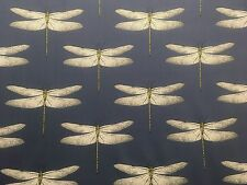 HARLEQUIN DEMOISELLE CURTAIN CUSHION BLIND FABRIC COTTON INK/CHARTREUSE 2.1M