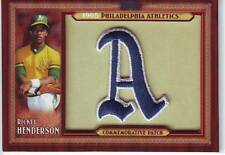 2011 Topps Rickey Henderson Commemorative Patch Card