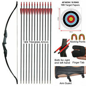 """20/30/40lbs 57"""" Archery Hunting Takedown Recurve Bow RH/LH for Target Practice"""