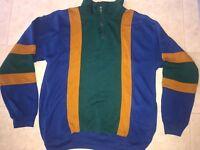 Athletic Works ~ Men's Vintage Green Blue Brown Sweatshirt 1990's Top ~ XL