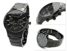 NEW Emporio Armani AR2453 Men's Black Stainless Steel Chronograph Watch