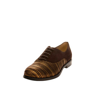 RRP €250 FIORANGELO Leather Oxford Shoes EU 40 UK 7 US 10 Coated Made in Italy
