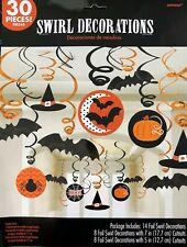 Halloween Black Orange Pumpkin Bat Witch Spider Swirl Party Hanging Decoration