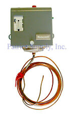 HONEYWELL L480G1044 Freeze Stat, 15°F to 55°F Set Point, 2 SPST,20 ft. cap