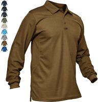 Men's Tactical Polo Shirt Long Sleeve Quick Drying Lightweight Outdoor Soft Tops