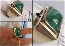 anello in oro bianco massiccio 18 kt. 750/000 acqua marina