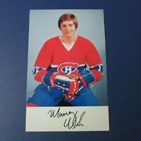 MURRAY WILSON  1976-77  Montreal Canadiens team issue postcard   NM/MT 1976 1977