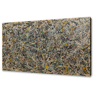JACKSON POLLOCK NUMBER 1 CANVAS PICTURE PRINT MODERN WALL ART FREE FAST DELIVERY