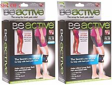 2 PACK BeActive Brace Be Active As Seen on TV Acupressure Leg Sciatica Back Pain