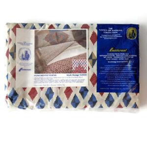New Vintage Fieldcrest King Flat Sheet Aztec Southwest Perfection Percale NOS
